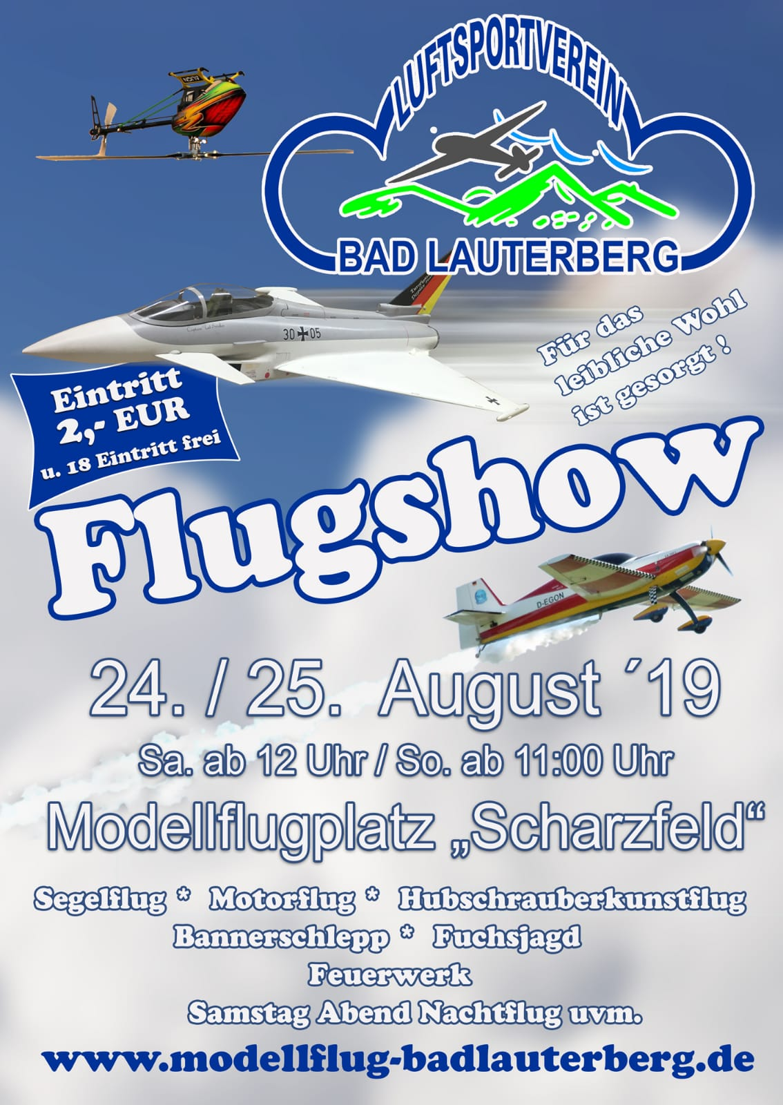 Flugtag des LSV Bad Lauterberg @ Modellflugplatz Scharzfeld Hottenberg | Herzberg am Harz | Niedersachsen | Deutschland